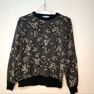 C.P. | Vintage Black And Gold Long Sleeve Shirt L